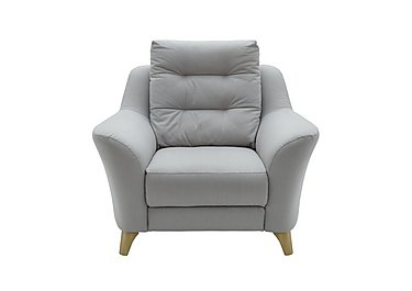 Pip Fabric Recliner Armchair in C242 Brush Pewter on FV