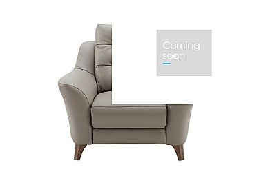 Pip Leather Recliner Armchair in P311 Dreams Fog on FV