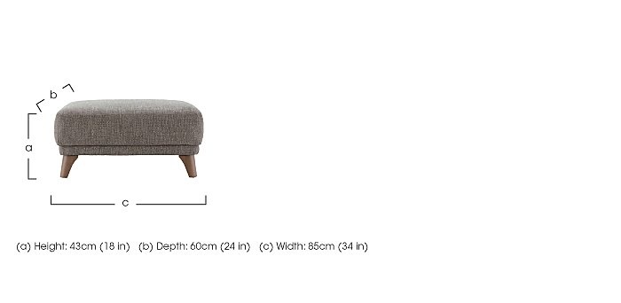 Pip Fabric Footstool in  on Furniture Village