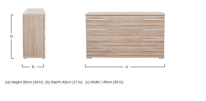 Laguna Large 4 Drawer Chest in  on FV
