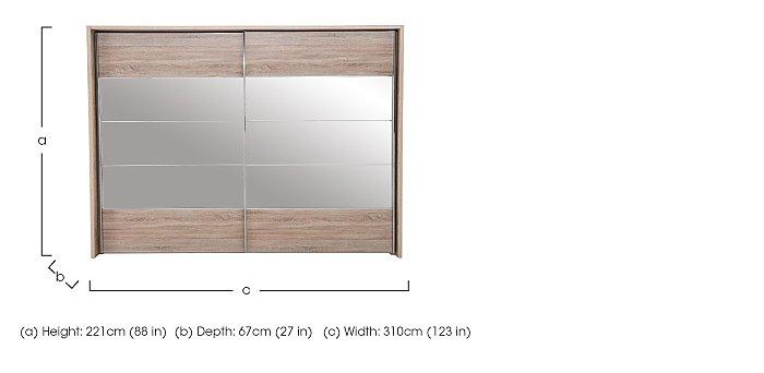 Laguna 2 Door Slider Wardrobe With Lights 310cm in  on Furniture Village