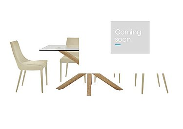 Evoque 160cm Dining Table and 4 Vista Chairs in Natural on FV