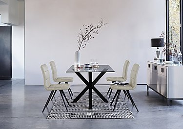 Evoque 200cm Dining Table and 4 Prism Chairs in  on FV