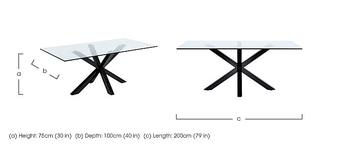 Evoque 200cm Dining Table in  on FV