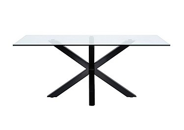 Evoque 200cm Dining Table in Matt Black on FV