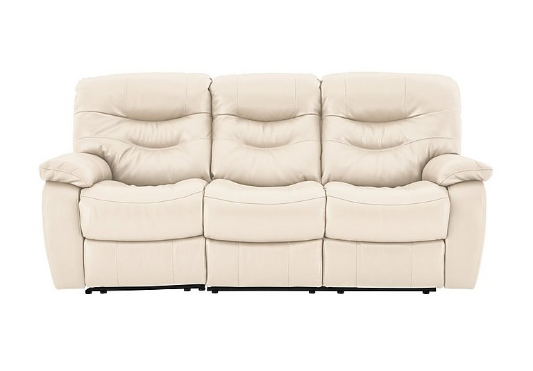 Cozy 3 Seater Leather Sofa - Only One Left!