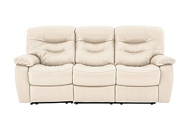 Cozy 3 Seater Leather Sofa - Only One Left! in Nc-862c Bisque on FV