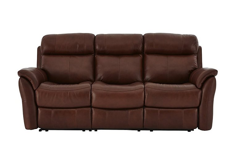 Relax Station Revive 3 Seater Leather Power Recliner Sofa - Only One Left!