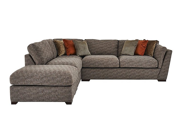Bailey fabric corner sofa with footstool furniture village for Furniture village sofa