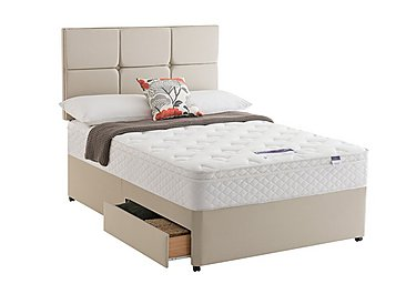 Miracoil Serenity Memory Cushion Top Divan Set in Sandstone on FV