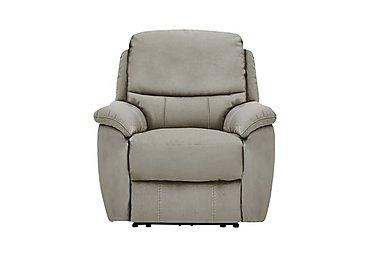 Oregon Fabric Recliner Armchair in Bfa-Blj-R946 Silver Grey on Furniture Village