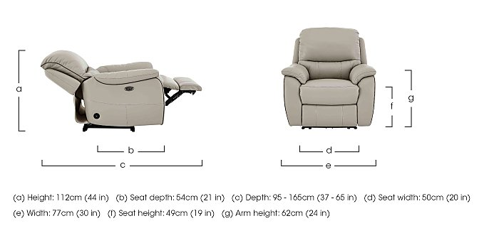 Oregon Leather Recliner Armchair in  on Furniture Village