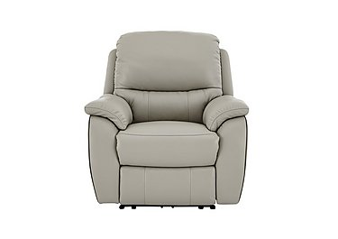 Oregon Leather Recliner Armchair in Nc-946b Feather Gray on Furniture Village