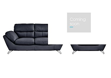 Salvador Leather 2 Seater Sofa with Armchair in 200/37 Atlantic Heather on FV