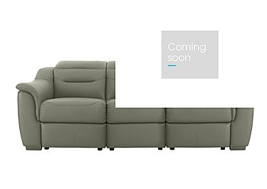 Lowry 3 Seater Leather Recliner Sofa in P300 Capri Ash on FV