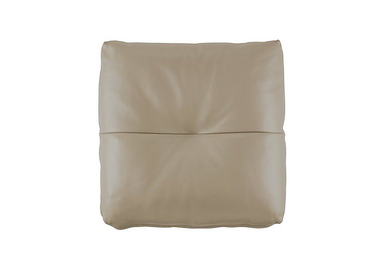 Tess Leather Bolster Cushion in P321 Husk Clay on Furniture Village