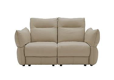 Tess 2 Seater Leather Sofa in P321 Husk Clay on Furniture Village