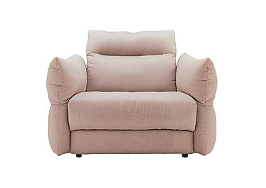 Tess Large Fabric Armchair in C243 Brush Rose on FV