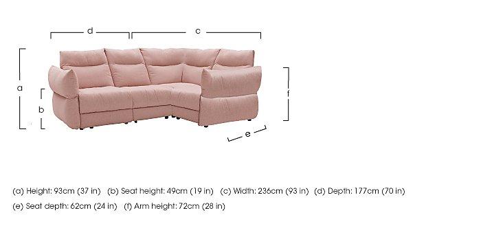Tess Fabric Corner Sofa in  on Furniture Village