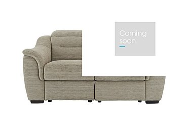 Lowry 2 Seater Fabric Recliner Sofa in B914 Victoria Pebble on FV