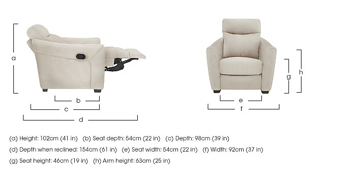 Compact Collection Midi Fabric Recliner Armchair in  on Furniture Village
