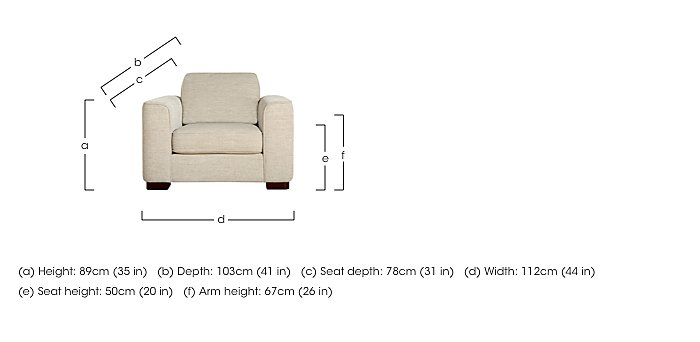 Eleanor Fabric Snuggler Chair in  on FV