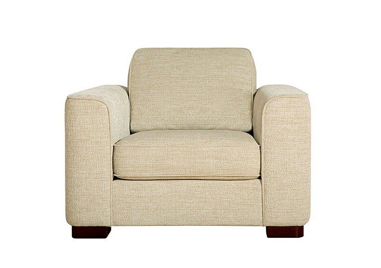Eleanor Fabric Snuggler Chair in Kento Cream - Bf on FV