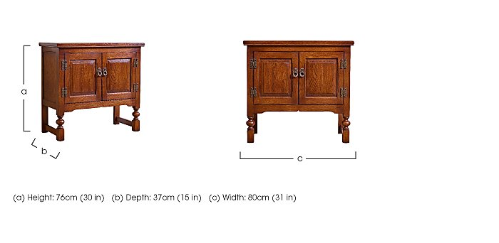 Old Charm Double Pedestal Cabinet in  on Furniture Village