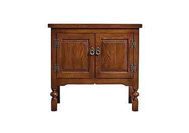 Old Charm Double Pedestal Cabinet in Chestnut Traditional on FV