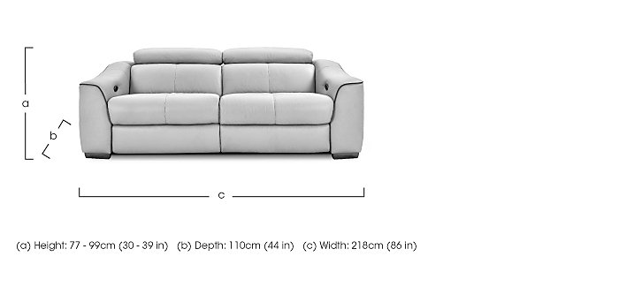 Elixir 3 Seater Leather Sofa - Only One Left! in  on FV