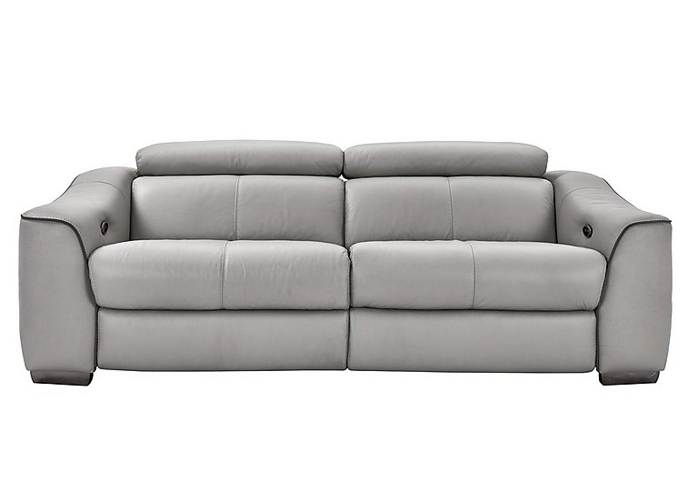 Elixir 3 Seater Leather Sofa - Only One Left! in Nc946b Feather Gray See Comms on FV