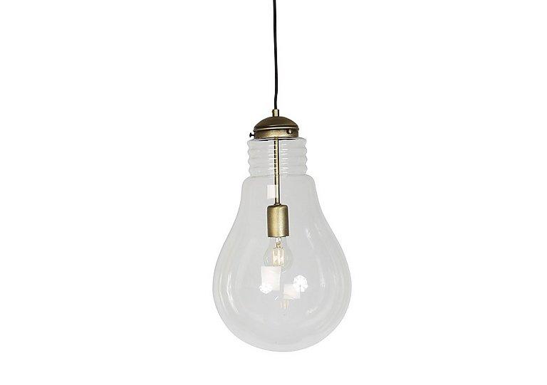 Oversized Bulb Ceiling Light in Antique Brass on Furniture Village