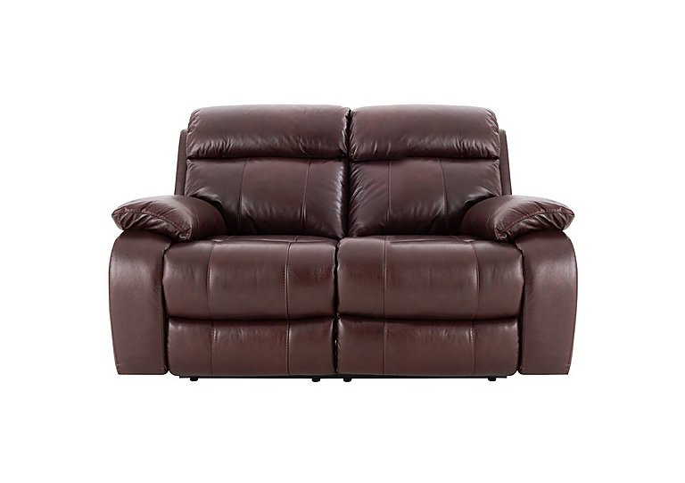 Moreno 2 Seater Manual Recliner Leather Sofa - Only One Left!