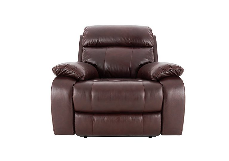 Moreno Leather Manual Recliner Armchair - Only One Left!