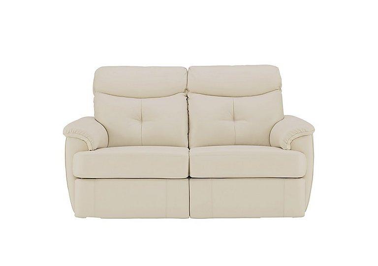Atlanta 2 Seater Leather Recliner Sofa in P231 Capri Stone on Furniture Village