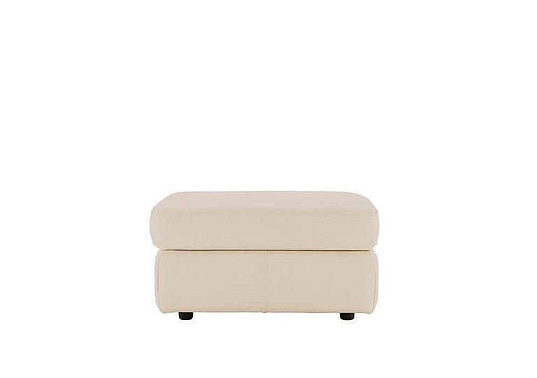Atlanta Leather Storage Stool in P231 Capri Stone on Furniture Village