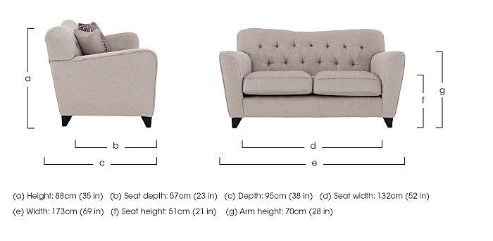 Viola 2 Seater Fabric Sofa in  on Furniture Village
