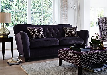 Viola 3 Seater Fabric Sofa in  on FV