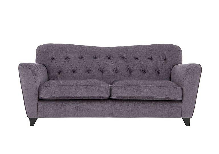 Viola 3 Seater Fabric Sofa in Pharaoh Plum Dark Antique on FV