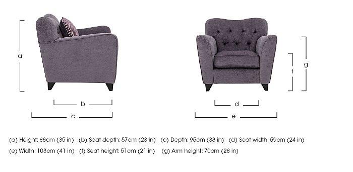 Viola Fabric Armchair in  on Furniture Village