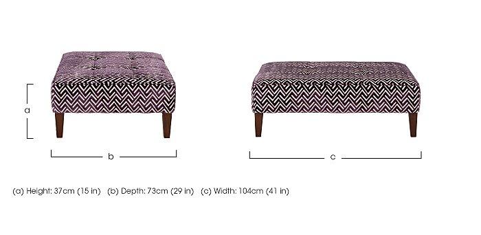 Viola Fabric Footstool in  on Furniture Village