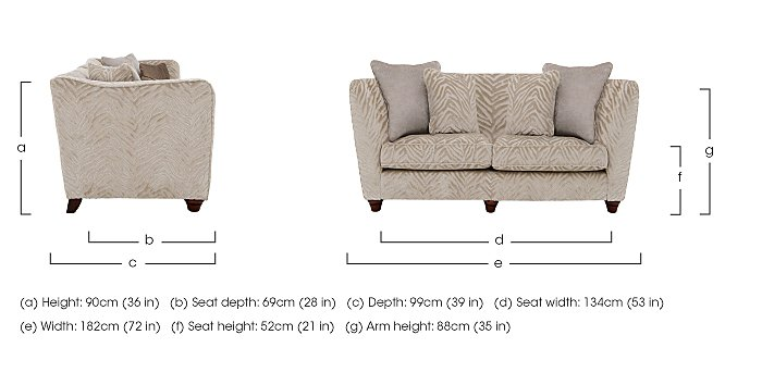 The Hollywood Collection Marilyn 2 Seater Fabric Sofa in  on Furniture Village