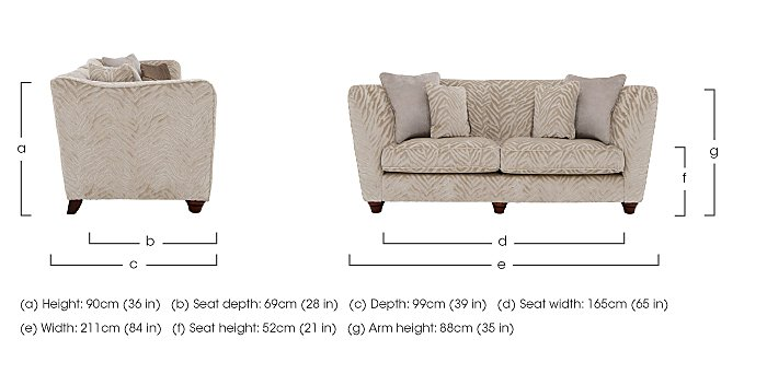 The Hollywood Collection Marilyn 3 Seater Fabric Sofa in  on Furniture Village