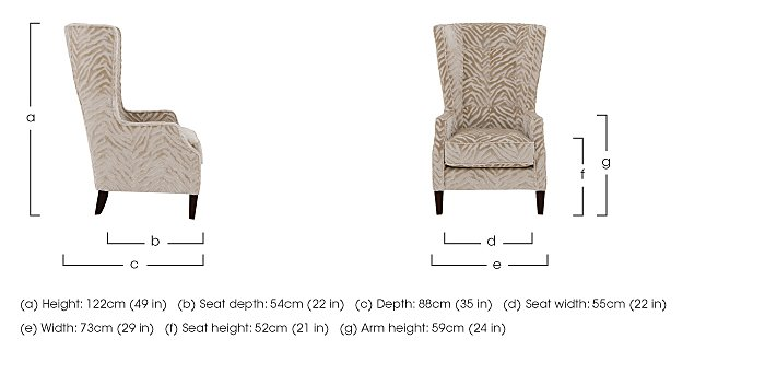The Hollywood Collection Marilyn Fabric Accent Armchair in  on Furniture Village