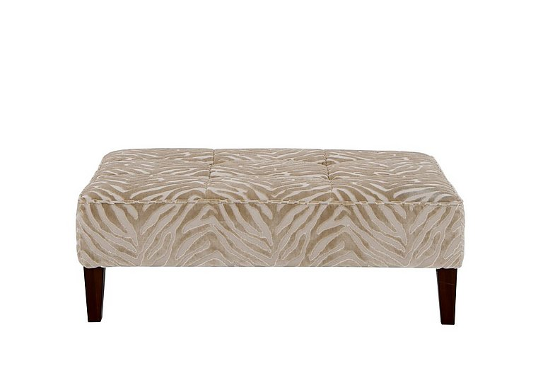 The Hollywood Collection - Marilyn Fabric Footstool in Kenya Natural An on Furniture Village