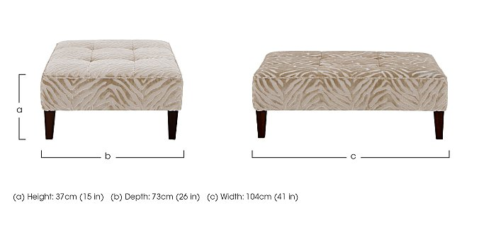 The Hollywood Collection Marilyn Fabric Footstool in  on FV