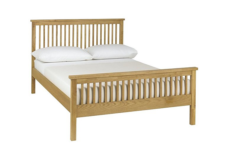 Eva High Footend Bed Frame in Oak on FV