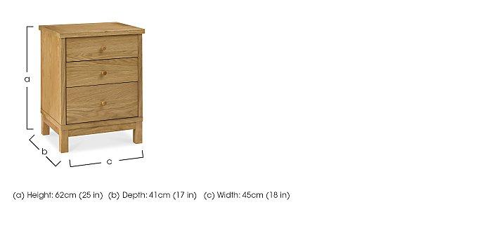 Eva 3 Drawer Nightstand in  on Furniture Village