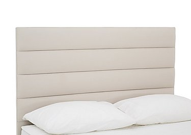 Prestige Tube Headboard in Linea Linen on Furniture Village