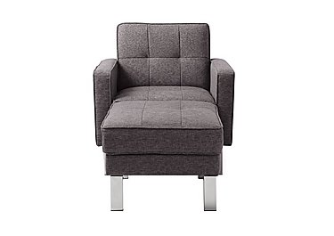 Newman Fabric Chair Bed with Footstool in Charcoal Grey on FV